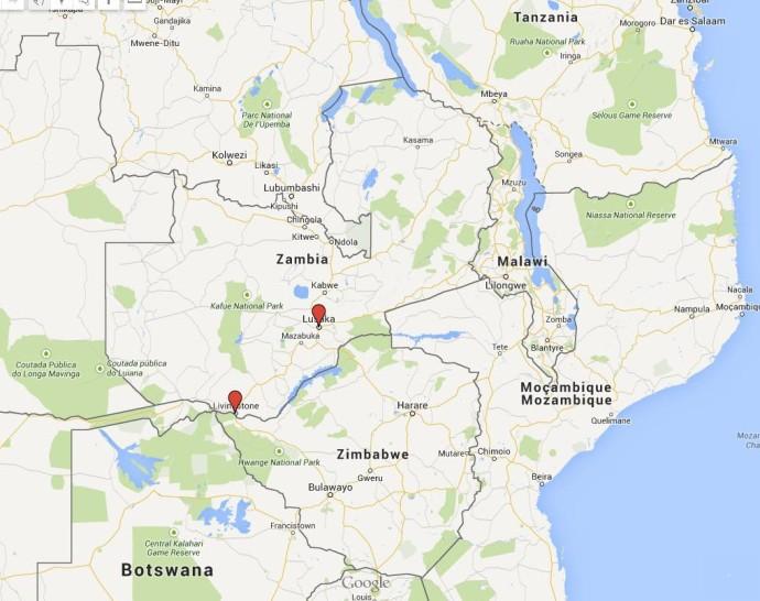 mapa zambia general