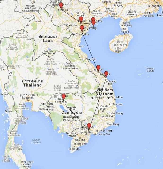 ruta vietnam-camboya