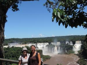 con christina (Al.) en iguazu lado brasileño