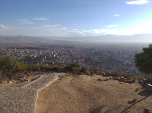 Vista de  cochabamba desde cristo de la concordia
