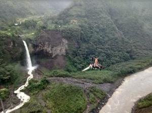 canopy cascada de la novia Baños ecuador