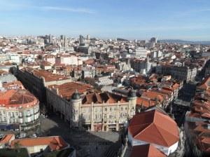 vistas desde torre des clérigos oporto