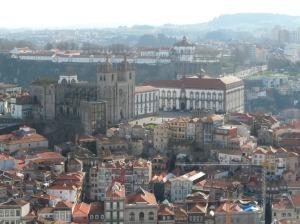 catedral sé desde torre des clerigos oporto