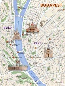 budapest mapa de monumentos