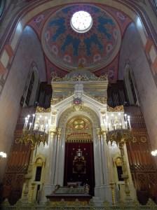 Interior gran sinagoga budapest