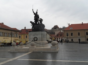 Dobo square Eger Hungria